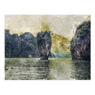 Cartão Postal Paraíso tropical de Phuket Tailândia em Ásia
