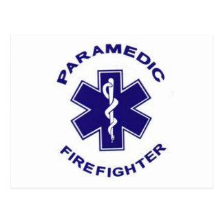 Cartão Postal Paramédico do sapador-bombeiro