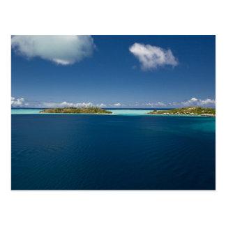 Cartão Postal Parasailing sobre a lagoa bonita de Bora 2