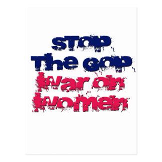 Cartão Postal Pare a guerra do GOP em mulheres