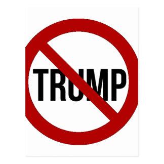 Cartão Postal Pare o Anti-Trunfo 2016 de Donald Trump