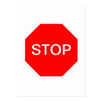 Cartão Postal Pare o sinal