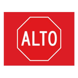 Cartão Postal Pare, sinal de tráfego, México