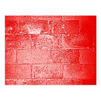 Cartão Postal Parede vermelha. Digitas art.