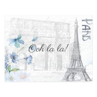 Cartão Postal Paris adulta temático todo o partido da ocasião