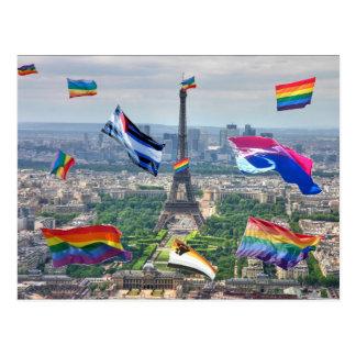 Cartão Postal Paris alegre