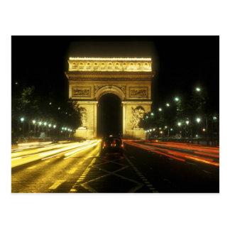 Cartão Postal Paris - Arco de Triunfo -