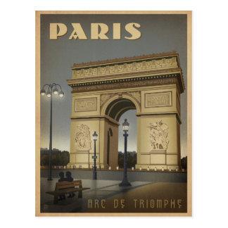 Cartão Postal Paris - Arco do Triunfo