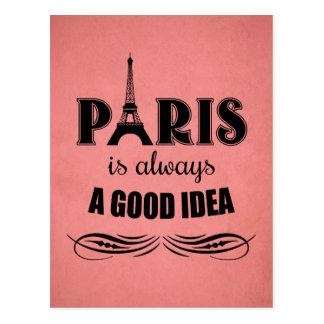 Cartão Postal Paris é sempre uma boa ideia