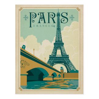 Cartão Postal Paris France - torre Eiffel