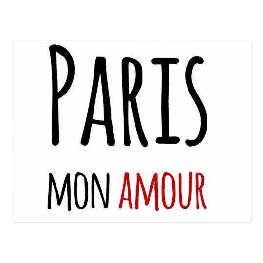 Cartão Postal Paris, mon amour