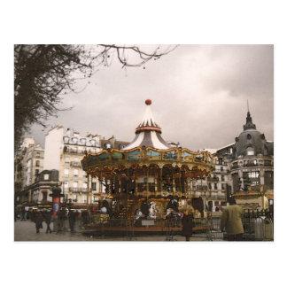 Cartão Postal Paris o carrossel