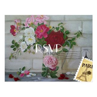 Cartão Postal Paris temático adiciona a foto que Wedding RSVP