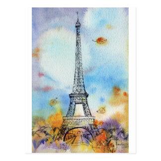 Cartão Postal Paris. Torre de Eiffel