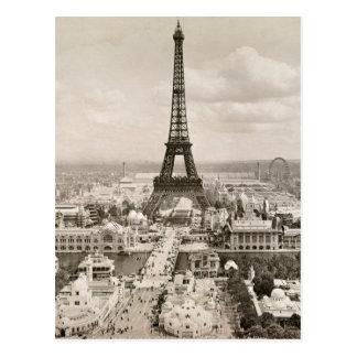 Cartão Postal Paris: Torre Eiffel, 1900