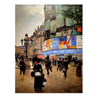 Cartão Postal Paris, trabalhos de arte do du Havre da rua