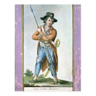 Cartão Postal Parisiense Sem-culotte