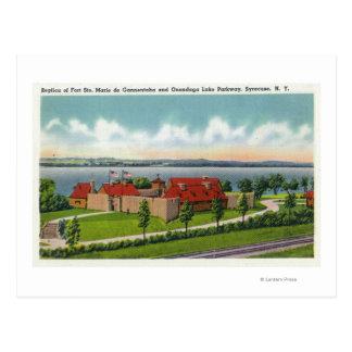 Cartão Postal Parkway do lago Onondaga