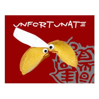 """Cartão Postal paródia cómico """"infeliz"""" do biscoito de fortuna"""