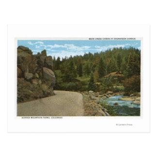 Cartão Postal Parque da montanha de Denver, CO