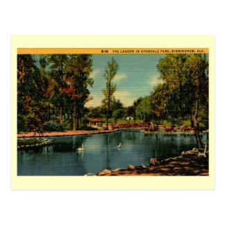 Cartão Postal Parque de Avondale, vintage de Birmingham, Alabama