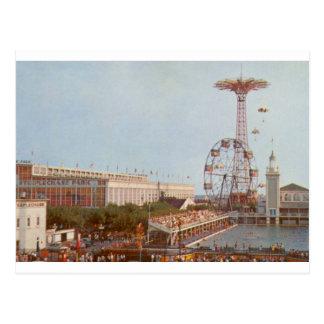 Cartão Postal Parque de diversões da corrida de obstáculos,