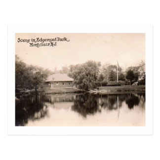Cartão Postal Parque de Edgemont, Montclair, vintage de