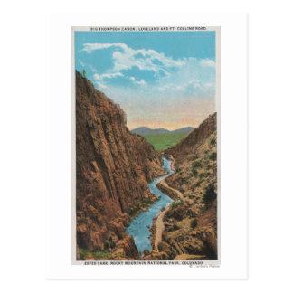 Cartão Postal Parque de Estes, CO - opinião Thompson grande