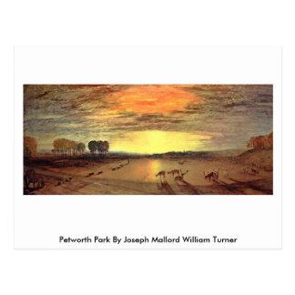 Cartão Postal Parque de Petworth por Joseph Mallord William