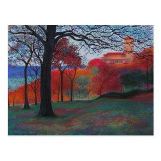 Cartão Postal Parque de Tryon do forte pelos claustros
