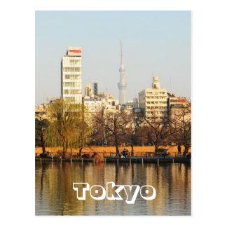 Cartão Postal Parque de Ueno em Tokyo, Japão