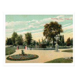 Cartão Postal Parque de Walbridge, vintage de Toledo, Ohio