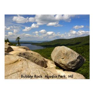 Cartão Postal Parque do Acadia da rocha da bolha, MIM