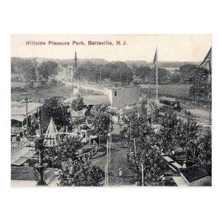 Cartão Postal Parque do prazer do montanhês, trole, Belleville