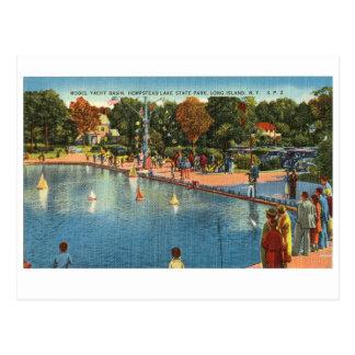 Cartão Postal Parque estadual do lago Hempstead, bacia modelo do