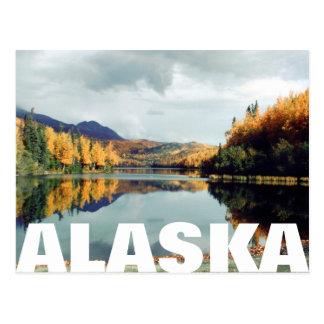 Cartão Postal Parque estadual longo Alaska do lago