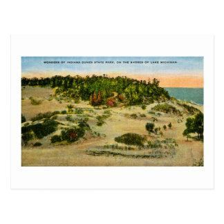 Cartão Postal Parque estadual o Lago Michigan das dunas de