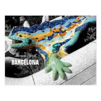 Cartão Postal Parque Guell de Barcelona Gaudi