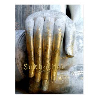 Cartão Postal Parque histórico de Sukhothai. Amigo de Wat Si.