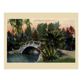 Cartão Postal Parque Los Angeles do eco do vintage