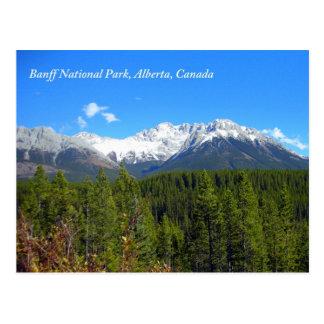 Cartão Postal Parque nacional Alberta Canadá Montanhas Rochosas