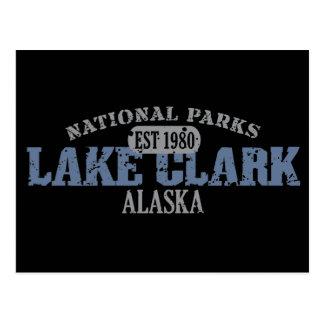 Cartão Postal Parque nacional de Clark do lago