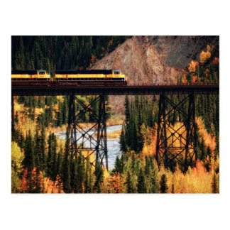 Cartão Postal Parque nacional de Denali e conserva EUA Alaska
