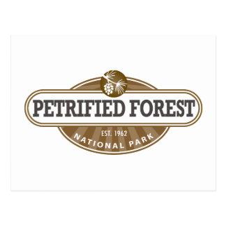 Cartão Postal Parque nacional de floresta Petrified