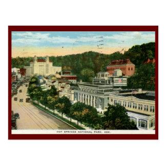 Cartão Postal Parque nacional de Hot Springs, vintage do vintage