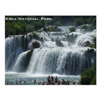 Cartão Postal Parque nacional de Krka