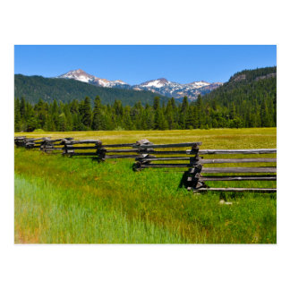 Cartão Postal Parque nacional de Lassen da montagem em