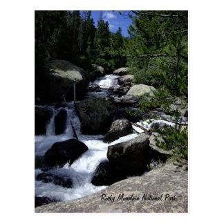 Cartão Postal Parque nacional de montanha rochosa