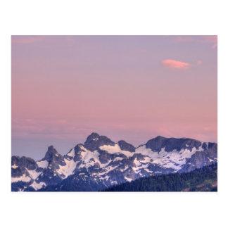Cartão Postal Parque nacional de Monte Rainier, geleiras de