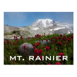 Cartão Postal Parque nacional de Monte Rainier, o Monte Rainier